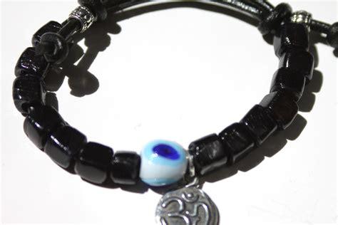 sariblue om g leather evil eye s bracelet