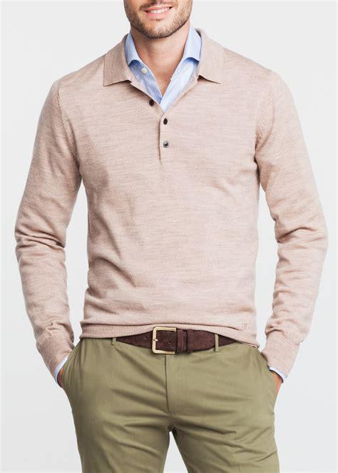 Polo Collar Sweater lyst mango polo collar wool sweater in for