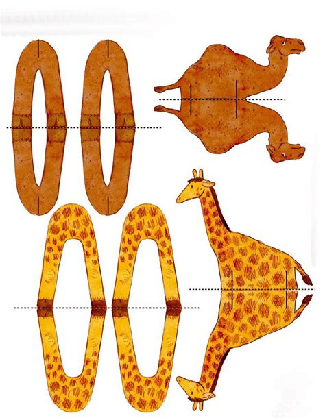 printable folding zoo animals sagome di animali simere s weblog