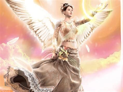 wallpaper girl angel beautiful angels wallpapers pixhome