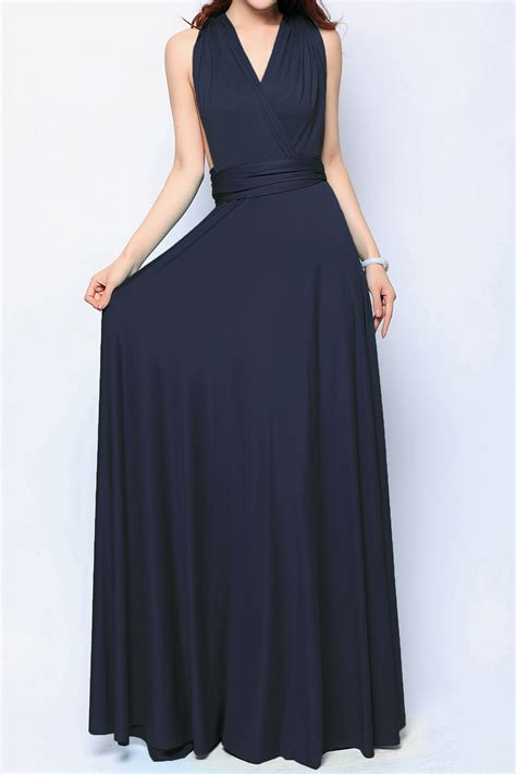Dress Blue Navy navy blue maxi bridesmaid dresses convertible dress plus