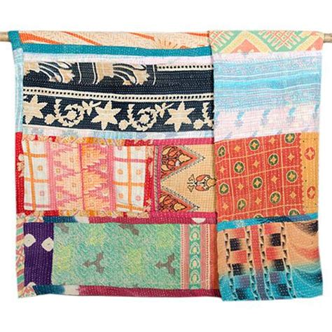 Fair Trade Quilt by Large Kantha Quilt Patchwork 48 All Things Kantha