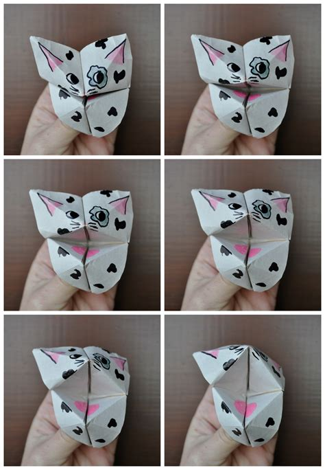How To Make A Paper Chatterbox Step By Step - how to make chatterbox critters make origami chatterboxes