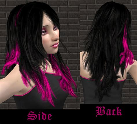 sims 2 emo hair mod the sims gothic female hair 6 recolors of flora s