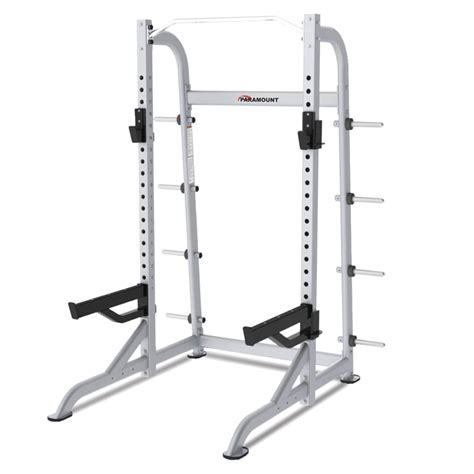 Fitness Half Rack by Paramount Xfw 8100 Half Rack With Plate Holders Fitness Gallery