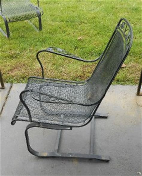 wrought iron rocking chair vintage fab pair vintage woodard high quality wrought iron patio