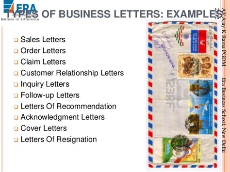 Kinds Of Business Letter And Their Parts business letter sle