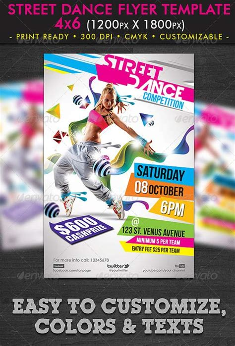 photoshop template river graphicriver street dance flyer template