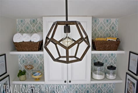 Brass Chandelier Makeover Diy Dodecahedron Pendant Light And An Announcement