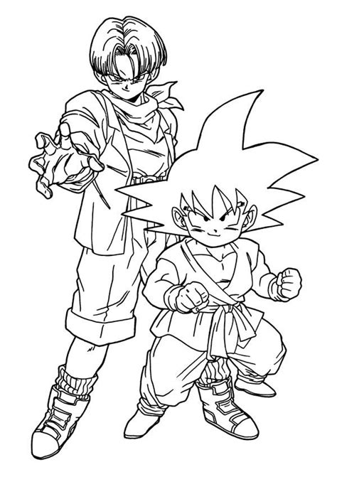 dragon ball z coloring pages of trunks coloring pages of trunks in dbz az coloring pages