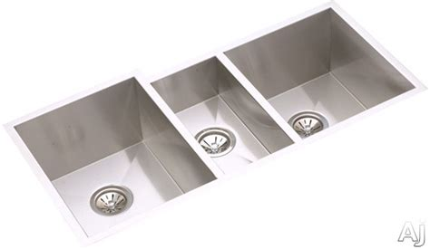 stainless steel sink undercoating elkay efu402010 40 quot undermount triple bowl stainless steel