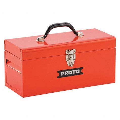 Tool Box Plastik Prohex 14 proto steel portable tool box 6 1 2 quot h x 14 quot w x 6 quot d 546 cu in 40jd29 j9954r grainger