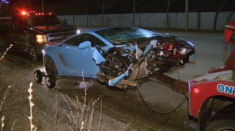 lamborghini car crashes lamborghini driver escapes in a bmw after crashing in