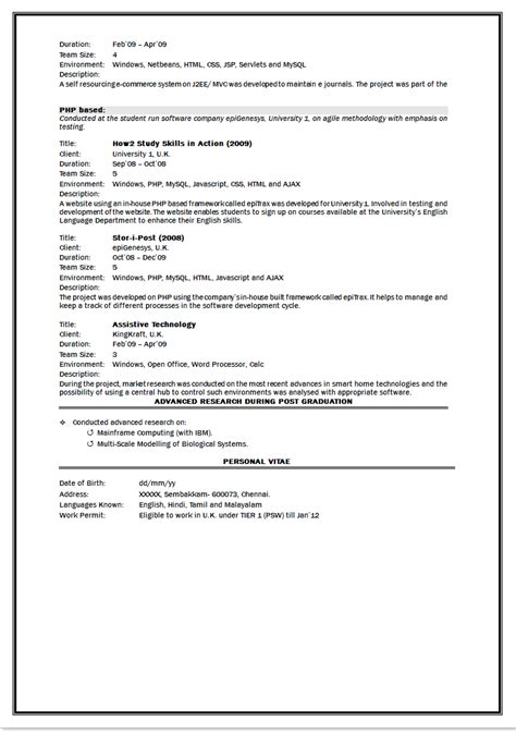 format of resume writing for fresher sle resume of an engineering fresher dental vantage dinh vo dds
