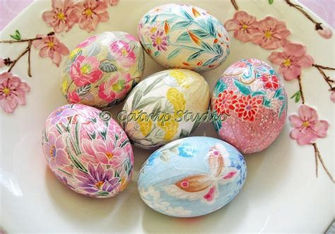 Decoupage Eggs - decoupage eggs easter