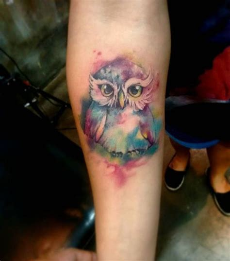 watercolor tattoo ireland the cutest watercolor owl tattoos tattoos