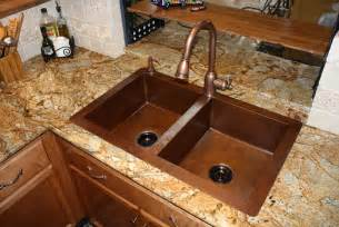 How To Shine Kitchen Sink - copper sinks blog how to pick faucet finish for your copper sink