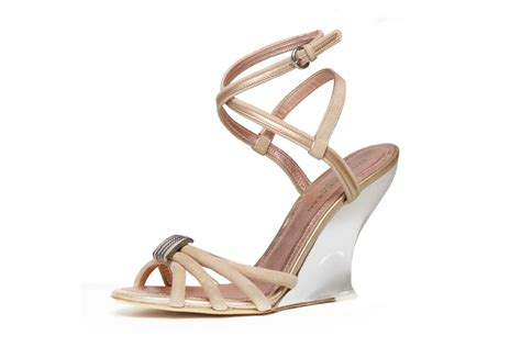 Blush Wedge Wedding Shoes by Donna Karan Wedding Shoes Chagne Blush Wedges Onewed