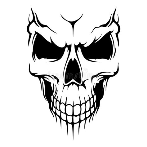skull vector stock vector illustration of design bone