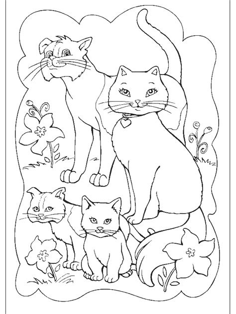 animal family coloring page family of cats coloring page animal pages of