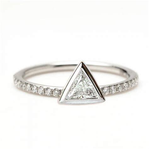 0 2 carat trillion ring triangle ring
