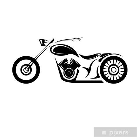 fototapet vektor silhuett av klassisk motorcykel vektor
