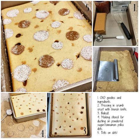 Buter Polca maple apple butter polka dot cheesecake bars