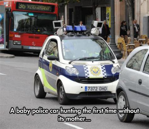 funny small cars baby police car the meta picture
