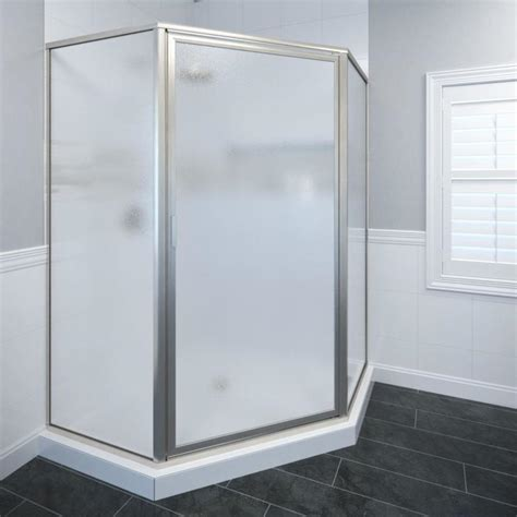 Brushed Nickel Shower Door Shop Basco Framed Brushed Nickel Shower Door At Lowes