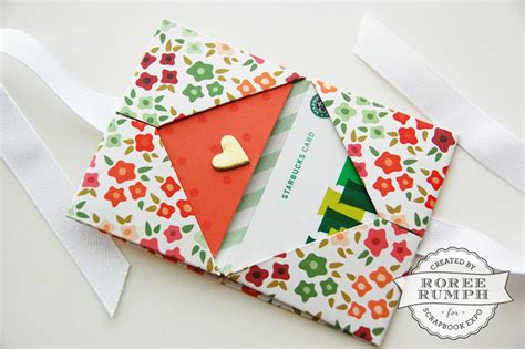 How To Make Gift Card Holders Out Of Paper - origami gift card holder st scrapbook expo
