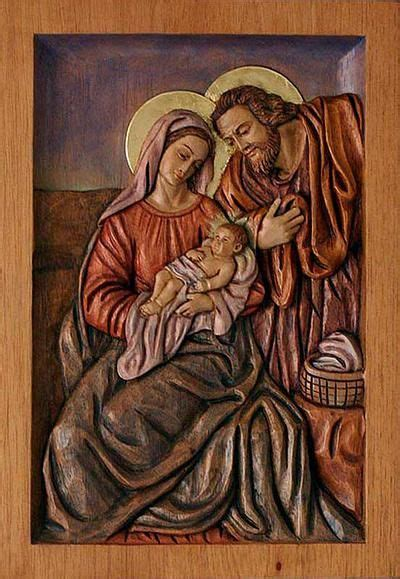 religious baby jesus carved wood relief panel holy