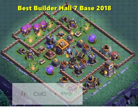 layout builder clash of clans best un defeatable builder hall bh7 base anti 1 star