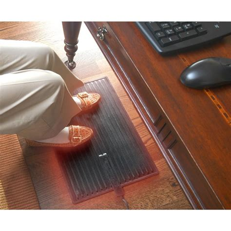 Heated Rubber Floor Mats - cozy products foot warmer heated mat personal space heater