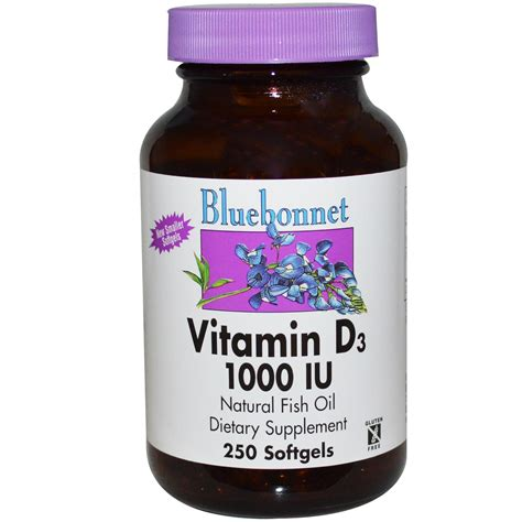 L Vitamin D by Bluebonnet Nutrition Vitamin D3 1000 Iu 250 Softgels