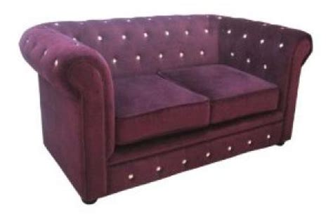 canapé chesterfield violet photos canap 233 chesterfield velours violet