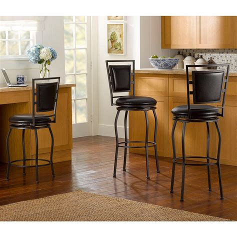 Linon Bar Stool Set Of 3 by Linon Home Decor Townsend Adjustable Height Brown