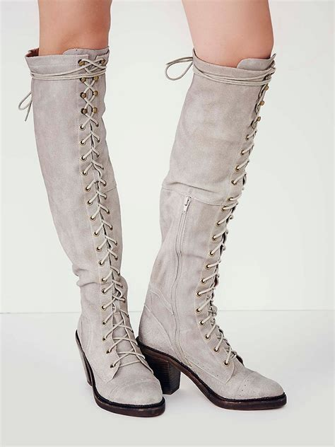 otk boots lyst free lace up otk boot in gray