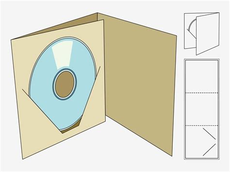 cd holder template template packaging box pesquisa papel