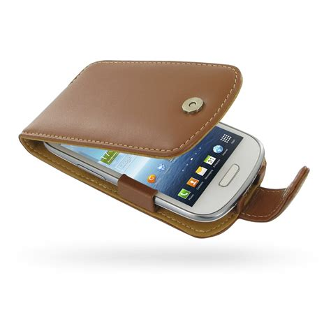 Casing Mini 3 samsung galaxy s3 mini leather flip brown pdair sleeve pouch