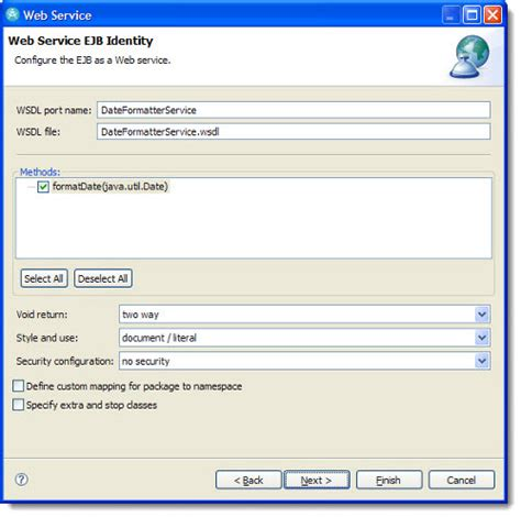 tutorial ejb web service create web services for stateless session beans in