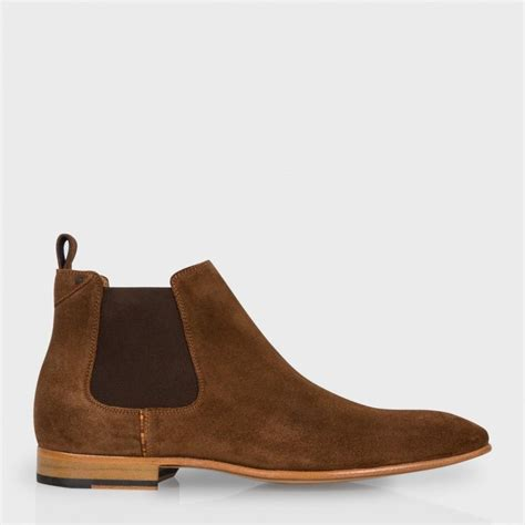 paul smith s brown suede falconer chelsea boots in