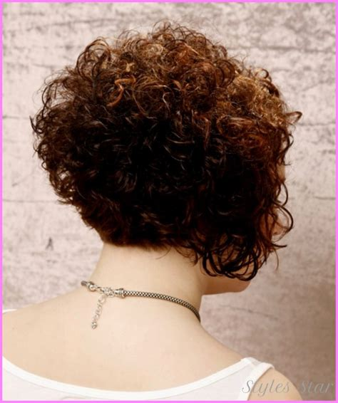 pictures of the back of curly stacked hair short curly haircuts back view stylesstar com