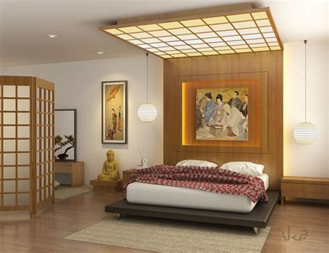 asian bedroom colorful japanese bedroom style with big mirror