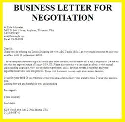 business letter for negotiation business letter exles