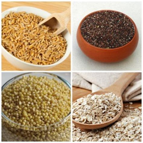 whole grains nutrients 20 types of whole grains nutrients in them and their