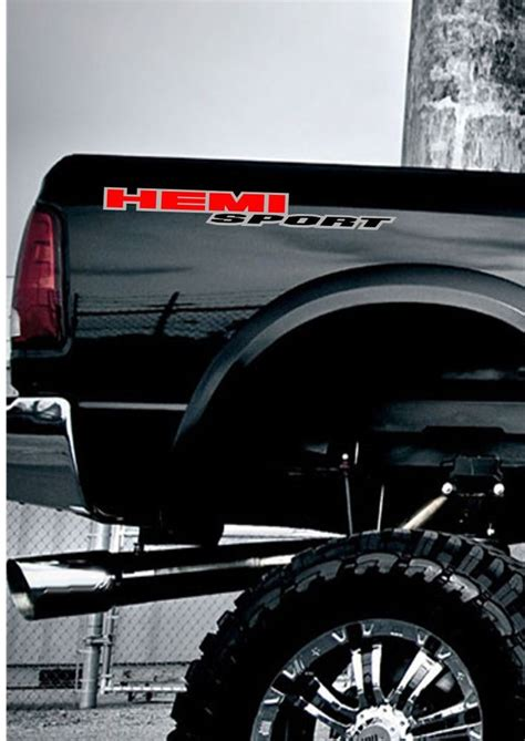 truck bed decals quot hemi sport quot dodge ram bed side truck decals stickers