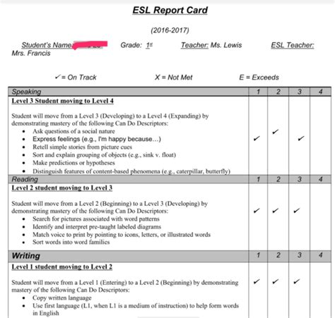 Sle Student Progress Report Template
