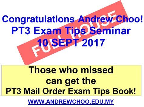 upsr pt3 spm exam tips andrew choo live seminar with upsr pt3 spm exam tips andrew choo