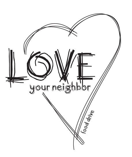 coloring pages love your neighbor yourself love your neighbor as yourself coloring page sketch