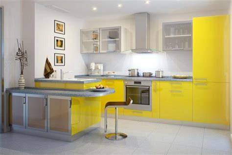 latest trends  yellow kitchen colors